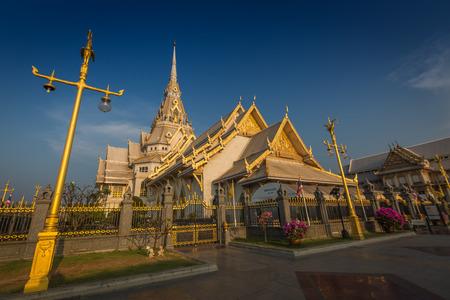 Wat Sothon Wararam Worawihan temple in Chachoengsao Province, Thailand Stock Photo