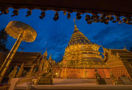 Wat Phra That Doi Suthep. The most famous temple in chiangmai, Thailand.