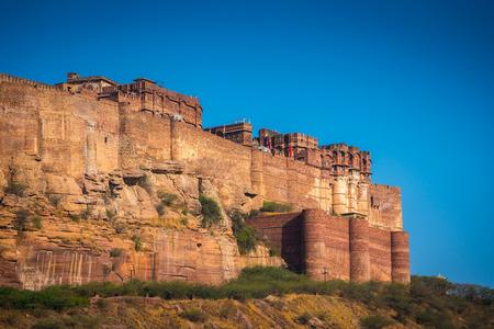 Mehrangarh Fort in Jodhpur, Rajasthan, India Stock Photo