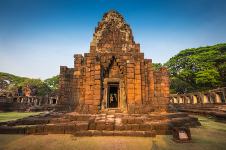The Phimai historical park. Prasat Hin Phimai. Ancient Khmer Temple in Thailand, Nakhon Ratchasima. The most important Khmer architecture of Thailand.