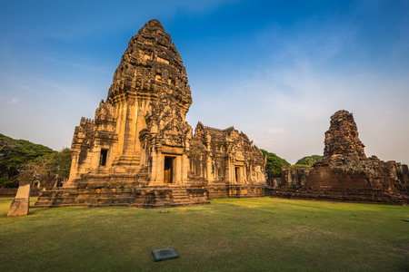 Prasat Hin Phimai, Phimai historical park in Nakhon Ratchasima province, Thailand. Stock Photo