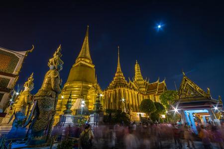 Night Scene of Wat Phra Kaew,the Grand Palace of Thailand