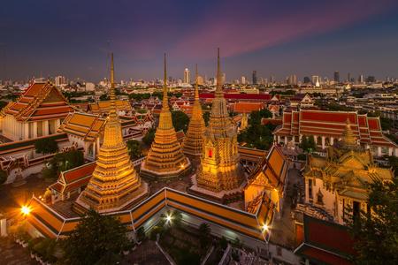 Wat Pho temple at twilight, Bangkok, Thailand