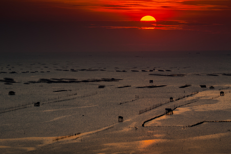 Sunset seascape at Bangsai , Chonburi , Thailand
