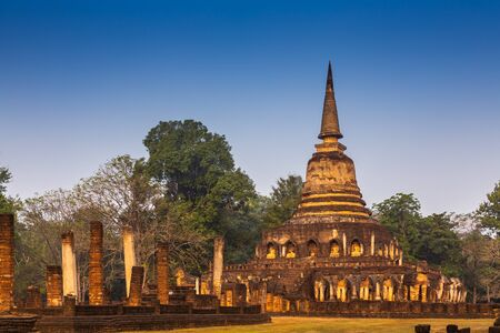 Wat Chang Lom at Si satchanalai historical park,Sukhothai Province,Thailand Stock fotó
