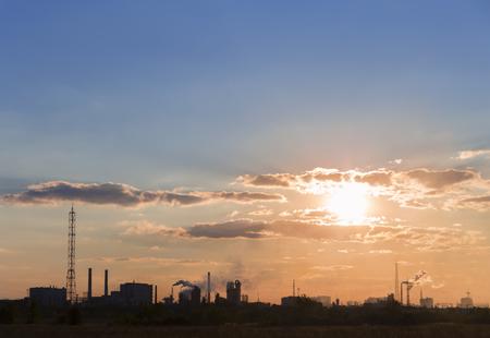 dukovany: smokestacks sunset.