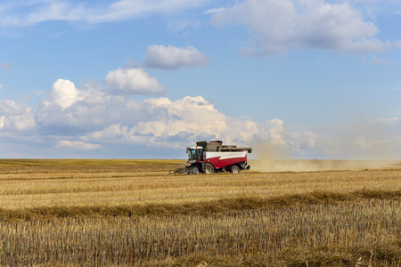 harvester: combine harvester. Stock Photo