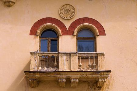 on the balcony: two Windows to the balcony.
