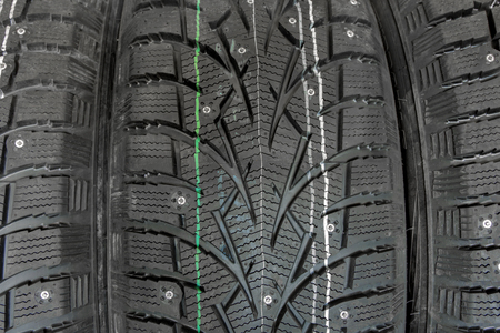 studded winter tires.