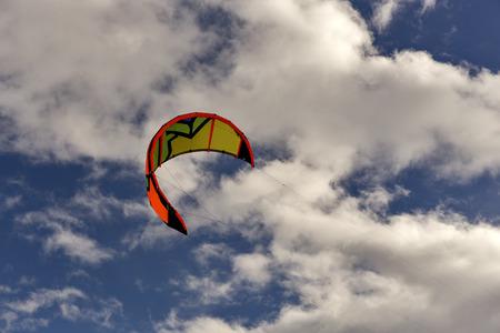 sky kite surfing. Stock Photo