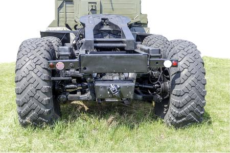 rear view of the truck. 免版税图像