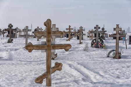 Orthodox cemetery. 免版税图像