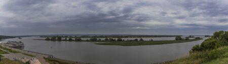 the Volga river ship panorama.