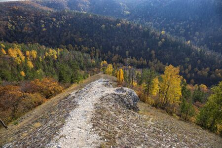 path in the mountains autumn.