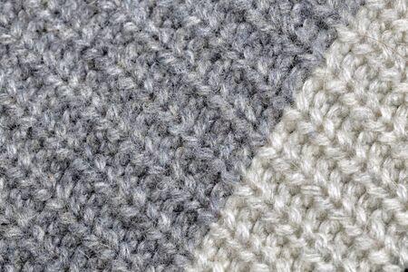woolen fabric gray white color. 免版税图像