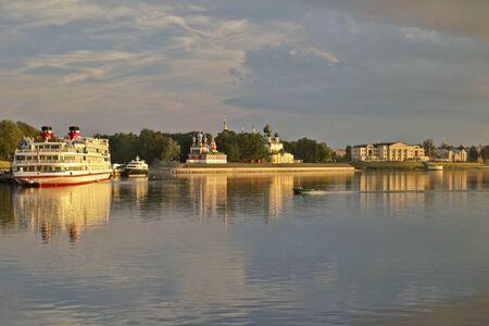 volga: Uglich. Rising over Volga.