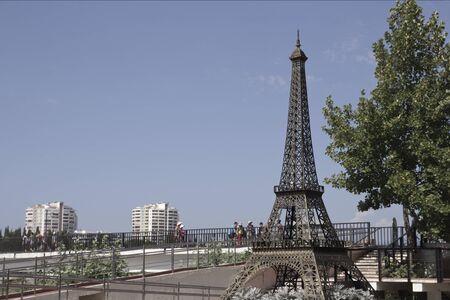 memoirs: The Eiffel Tower on Mzymta River Embankment in Adler.