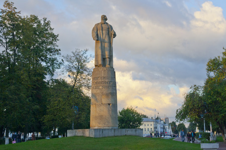 ivan: Monument to Ivan Susanin in Kostroma. Russia. Stock Photo