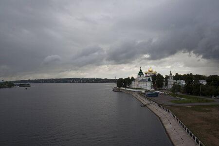 volga river: Ipatiev Monastery on the Volga River in Kostroma.