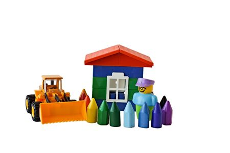 motto: The composition from toys illustrating the motto of Turnkey Houses construction company.