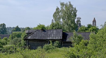 The old Russian dying village. Standard-Bild