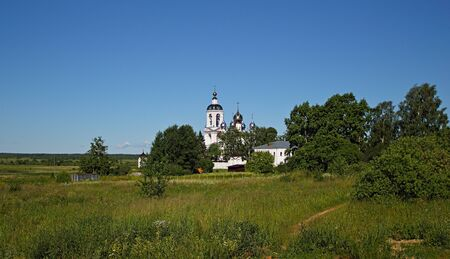 churchyard: The village of Antushkovo (Russia) was called earlier the Nikolsky churchyard as exactly there on June 11, 1423 to local shepherds there was a phenomenon of the Life-giving cross with Nicholas The Wonderworker who is coming before him.