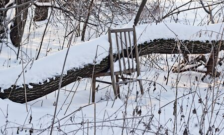 desolation: The thrown corner located in an old winter garden with the broken chair.