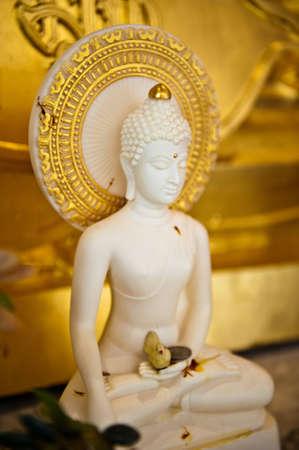 lord buddha: White Lord Buddha