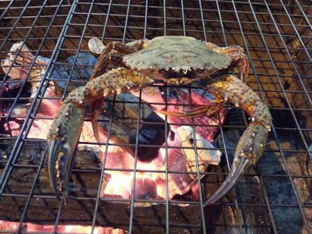 Grilled crab photo