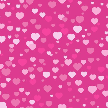 Colorful seamless pattern of cute hearts. Can be used for printing on fabric or paper. Simple flat vector illustration.  イラスト・ベクター素材
