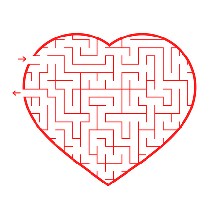 Labyrinth heart. Ilustrace