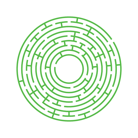 Abstract round maze.