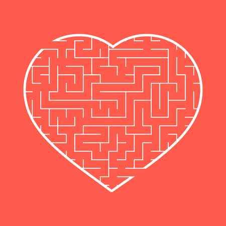 Labyrinth heart. 矢量图像