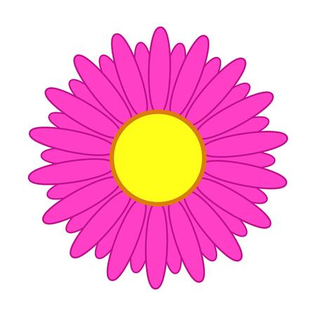 Abstract simple flower with pink petals Ilustração