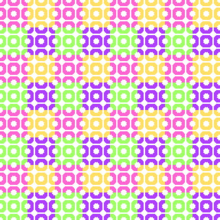 Abstract seamless pattern of yellow, green, pink squares Иллюстрация