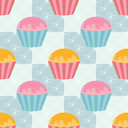Colorful seamless pattern of cute drops on a square background. Simple flat vector illustration. For the design of paper wallpaper, fabric, wrapping paper, covers, web sites.  イラスト・ベクター素材