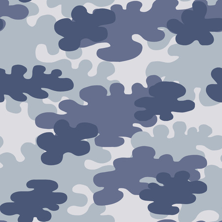 Colorful seamless urban camouflage pattern. Khaki texture. Simple flat vector illustration. For the design of fabric, wrapping paper, covers, web sites.