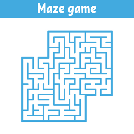 Color square maze. Game for kids. Puzzle for children. Labyrinth conundrum. Flat vector illustration isolated on white background. With place for your image