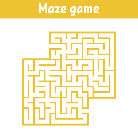 Color square maze. Game for kids. Puzzle for children. Labyrinth conundrum. Flat vector illustration isolated on white background. With place for your image Vetores