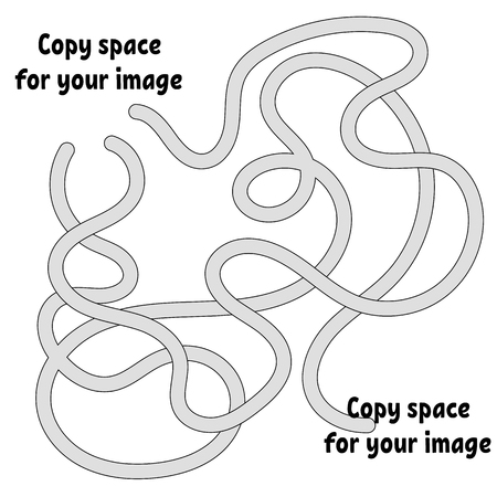 Abstract maze. Many ways from start to finish. Game puzzle for children. Labyrinth conundrum. Vector illustration. With space for your drawings