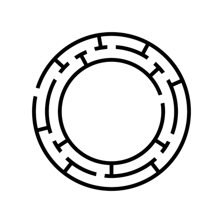Abstact labyrinth. Game for kids. Puzzle for children. Maze conundrum. Vector illustration.
