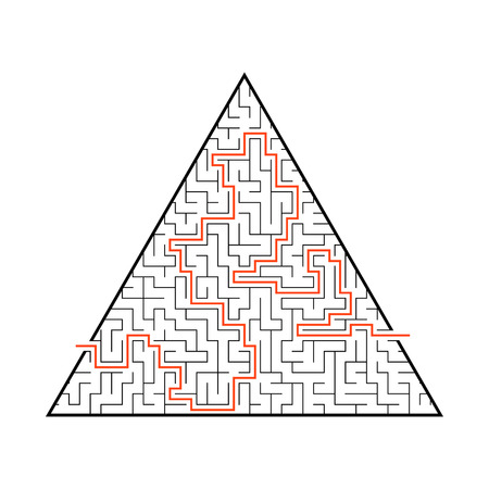 Difficult big maze. Game for kids and adults. Puzzle for children. Labyrinth conundrum. Flat vector illustration Ilustrace