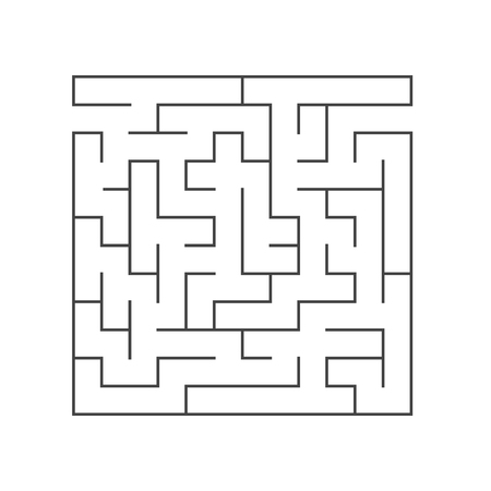 Abstract square maze. Game for kids. Puzzle for children. Labyrinth conundrum. Flat vector illustration isolated on white background Vettoriali