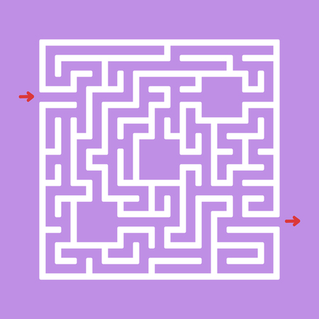 Abstact labyrinth. Game for kids. Puzzle for children. Maze conundrum. Color vector illustration Ilustracja