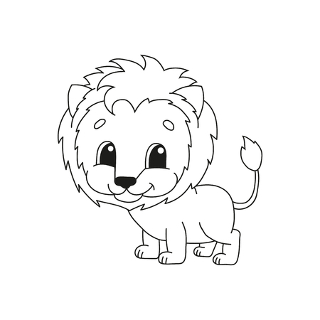 Coloring book pages for kids. Cute cartoon vector illustration