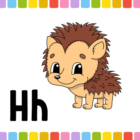 Animal alphabet. Zoo ABC. Cartoon cute animals isolated on white background. For kids education. Learning letters. Vector illustration 向量圖像
