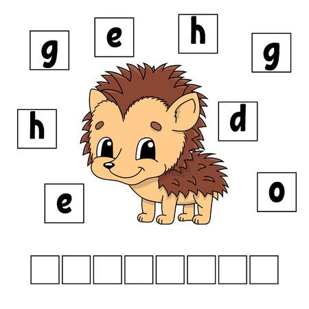 Words puzzle. Education developing worksheet. Game for kids. Activity page. Puzzle for children. Riddle for preschool. Simple flat isolated vector illustration in cute cartoon style