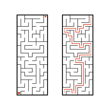 Abstact labyrinth. Game for kids. Puzzle for children. Maze conundrum. Vector illustration Stock Vector - 124820843
