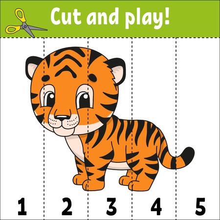 Aprendiendo números. Hoja de trabajo de desarrollo de educación. Juego para niños. Página de actividad. Puzzle para niños. Acertijo para preescolar. Ilustración de vector aislado plano simple en estilo de dibujos animados lindo