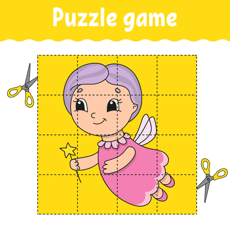 Puzzle game for kids . Education developing worksheet. Learning game for children. Activity page. For toddler. Riddle for preschool. Simple flat isolated vector illustration in cute cartoon style